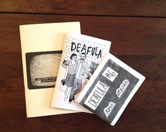 Deafula zine pack, all available issues