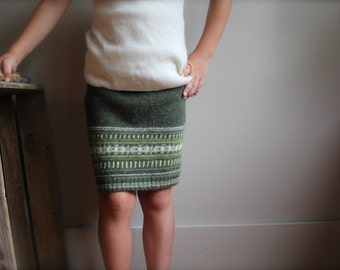 Girls Wool Skirt, Felted wool skirt, Girls Skirt, Size 7-8 -10