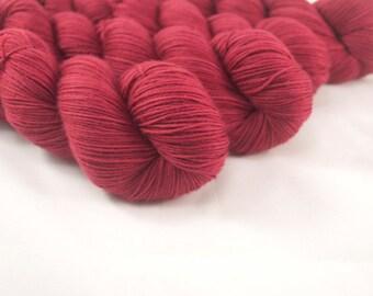 Hand Dyed Merino / Nylon Sock Yarn Dark Rose