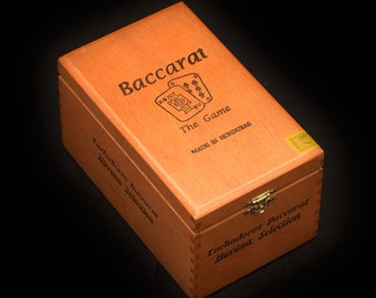 Baccarat Playing Card Case - Wooden Cigar Box