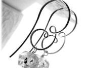 Herkimer diamond earrings - Raw herkimer quartz earrings - Dangle earrings - Earrings - Handmade earrings - Sterling silver earrings