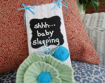 Shhh... Baby Sleeping Sign Nursery Sign Nap Time Quiet Please Door Knob Talker