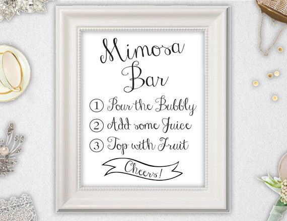 Monster image regarding mimosa bar sign printable free