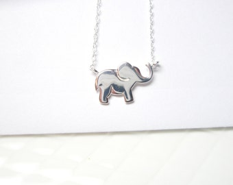 sale Sterling silver Elephant Necklace, Good luck Charm , 925 Romantic Lucky  Pendant