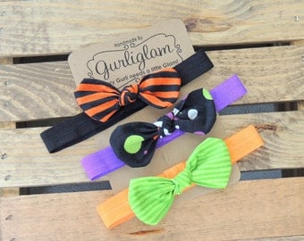 Halloween headbands,Halloween Knot Hair Clips, Knot Headbands, Baby Hair Accessories
