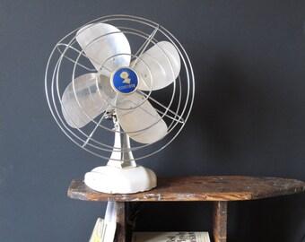 Vintage electric oscilliating fan / Coronado / industrial decor