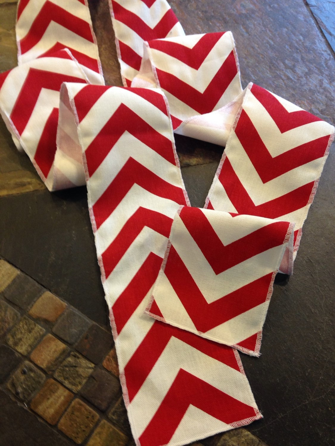 Original Baseball Party Themed Red Chevron Modern Wedding