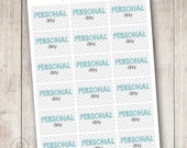 Chevron Personal Day Frames - Set of 18