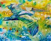 Naples Pelican-Art by Jen Callahan Tile,Cuttingboard,Paper Print