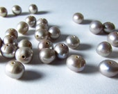 Antique Silver Color Pearl Round Beads 4mm - 5mm