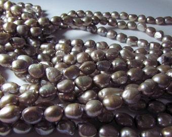 Light Bronze Potato Nugget Pearl Beads 10mm - 11mm