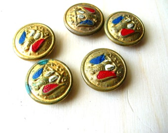 Vintage Eagle Buttons - Metal Military Buttons - Vintage Military Buttons - Eagle Button Lot - Old Metal Buttons