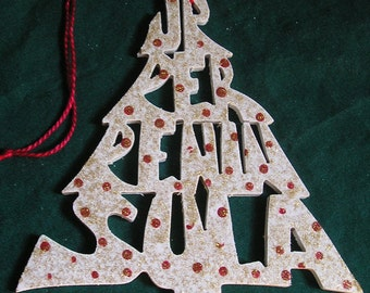 Upper Peninsula, Michigan, handcrafted tree shaped ornament