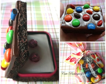 Fake Food box Life Sized Brownie polymer