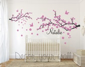Branch with birds Wall Decal. Wall Sticker. Vinil wall decal. Nursery decal. Nursery wall decal