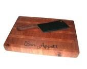 "Cutting Board End Grain - Cherry and Oak 16.5"" x 11.5"" x 1.5"""