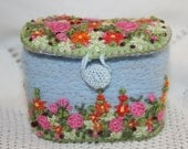 Embroidered and Felted Trinket/Keep-safe Box stitched by Lynwoodcrafts