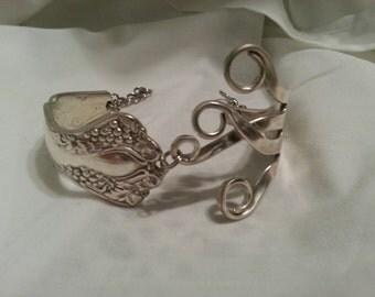 Fork Bracelet, Silverware Jewelry, Spoon Jewelry, Vintage, Fork Jewelry, Grapes