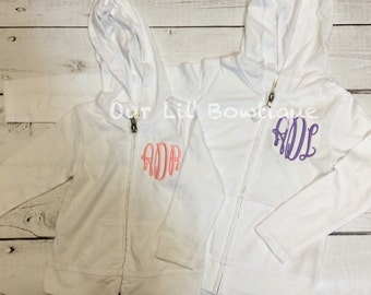 Personalized Kids or Toddlers Zip-Up - Personalized Sweatshirt - Personalized Name Zip UP - Monogram Zip Up - Girl - Toddler - Baby - Hoodie