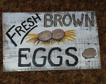 Fresh Brown Eggs Sign...Customize It