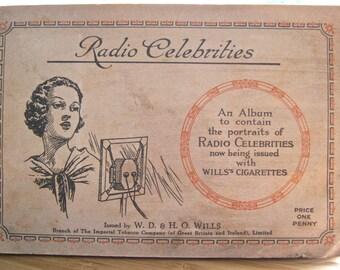 Wills Cigarette Cards, Radio Celebrities Album 1920s - Early Colour Portraits of Radio Stars, UK, Wills Cigarette Cards