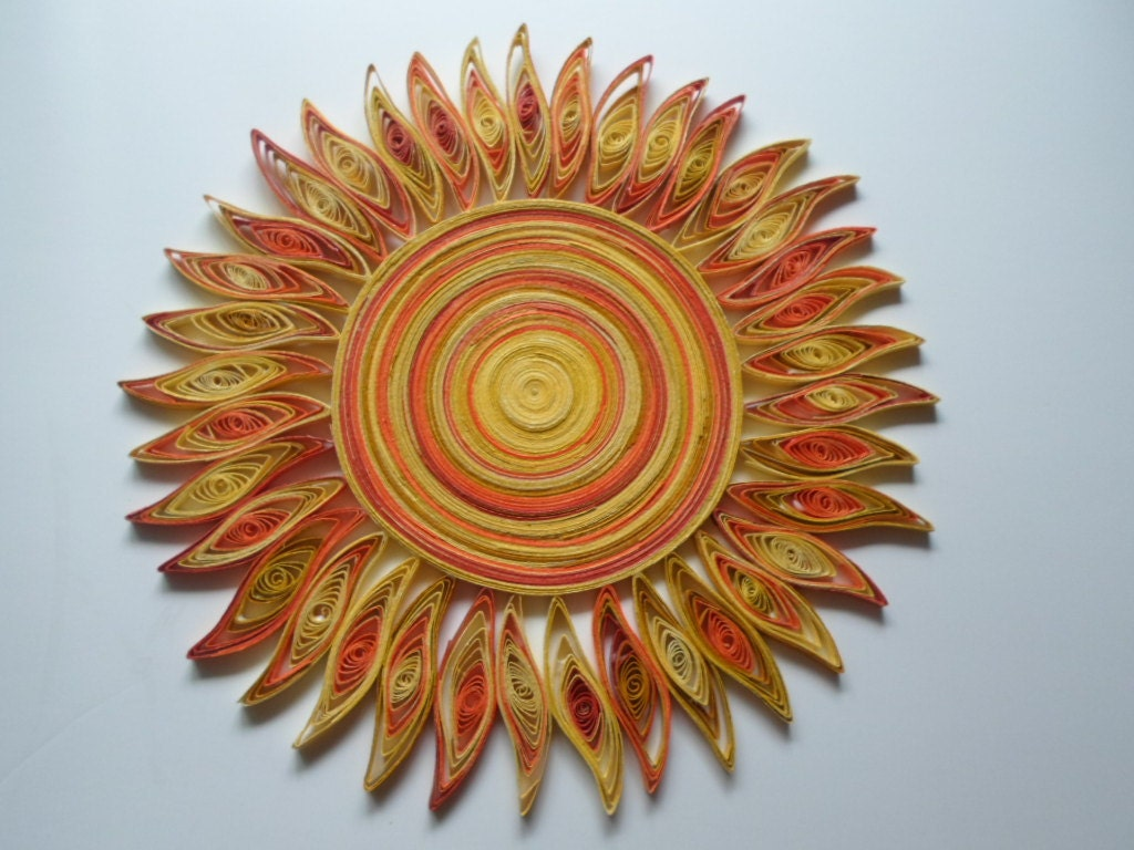 Sun Wall Art sun wall art paper quilling kids room wall decor bedroom wall