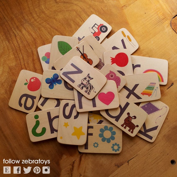 ABC-English-Alphabet-Flash Cards-Back To School-Preschool-Magnet Toy-Learning game-Educational-Wood-Eco friendly-Kids Game-Gifts For Teacher