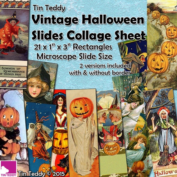 Tin Teddy Halloween Microscope Slides