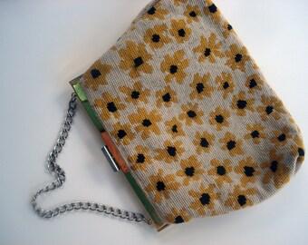 Cross stitched floral handbag