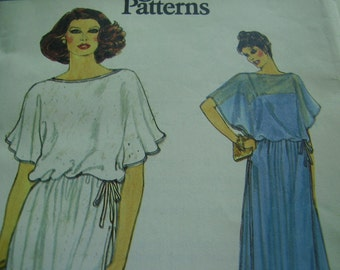 Vintage 1970's Vogue 7226 Evening Dress Sewing Pattern, Size 10, Bust 32 1/2