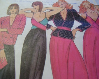 Vintage 1970's Butterick 6858 John Kloss Jacket and Nightgown Sewing Pattern, Size 14, Bust 36