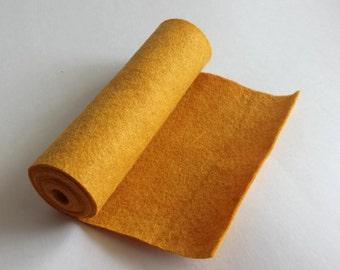 SALE 5x36 Mustard Wool Blend Felt Roll
