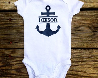 Personalized Anchor baby onesie bodysuit