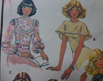 Vintage McCall's Pattern 4610  Misses' Blouse Pattern in Size 10