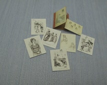 NEW Gaël Miniature folder Sketches Jane Austen  1:12 Scale Or 1/6 Scale Dollhouse Miniature playscale Dollhouse