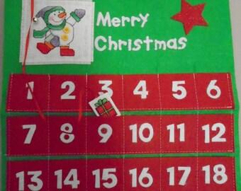 Handmade Snowman Advent Calendar