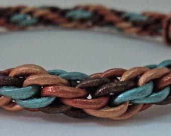 Leather Kumihimo bracelet