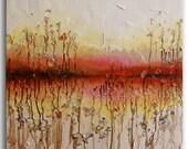 "Wild Flowers Abstract oil Painting ORIGINAL Painting Oil Painting Abstract Landscape Painting Original Art painting 24""x24"" by Tatjana"