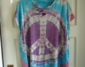 RESERVED DONT BUY Vintage 90s Peace Sign Thrashed T Shirt sz L