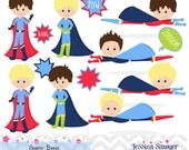 INSTANT DOWNLOAD, superhero boys clipart and vectors for personal and commercial use