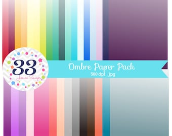 INSTANT DOWNLOAD, ombre digital papers, ombre backgrounds for personal and commercial use