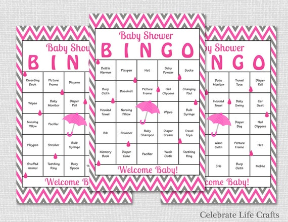 30 pink baby shower bingo cards download printable baby shower il570xn pin it solutioingenieria Gallery