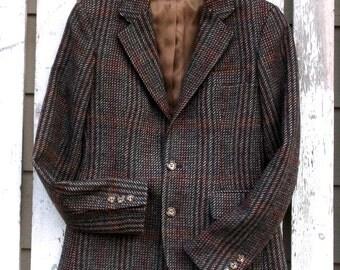 Women's Vintage Plaid Jacket - Retro Style Women's Jacket - Vintage Menswear Plaid Wool Jacket - Womens Plaid Jacket - Classic 1980s Jacket