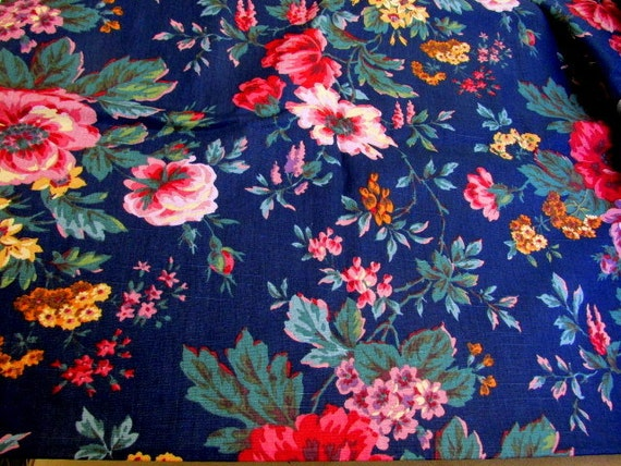 Fabric Garden Lane Gear Housing By Raymond Waites 2.5 Yards 1989