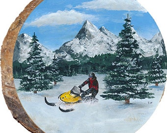 Snowmobile in the Mountains - DPS035
