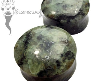Zoisite Stone Plugs for Stretched Ears Piercings Handmade in UK