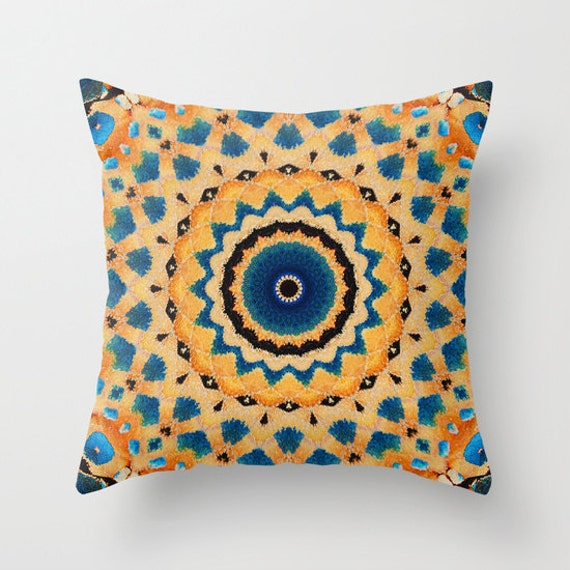 Monarch Butterfly Mandala Decorative Throw Pillow, Throw Pillow, Pillow Covers, Photography, Abstract Art, Housewarming Gift, Butterflies