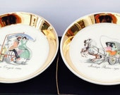RESERVED FOR YVONNE - Wade Steam Tricycle / Stanhope Phaeton Boxed Pottery Trays - Vintage English Porcelain