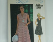 BUTTERICK 4776 SIZE: 12 Bust 34 Knit Cap Sleeves Summer Pullover Dress 1970s Sewing Pattern
