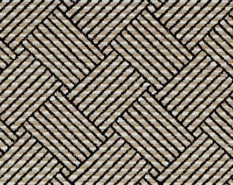 Black Chenille Upholstery Fabric - Modern Taupe Chenille for Furniture - Custom Black Geometric Pillow Covers - Textured Black Fabric